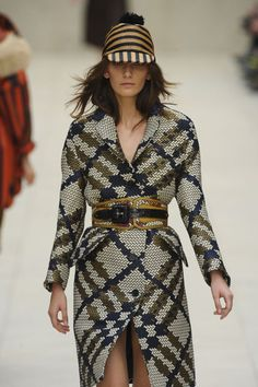 "Burberry Prorsum Spring 2012; There is no way that Burberry would not be included in my ""Top 20""! I am ""Mad about Plaid"" and anything ""Tartan Themed""! This ensemble deviates from the traditional Burberry ""Signature Plaid"" however, I love how it was reinterpreted."