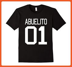 Mens Abuelito T-shirt Dia del Padre El Mejor Abuelo Del Mundo N 1 XL Black - Relatives and family shirts (*Partner-Link)