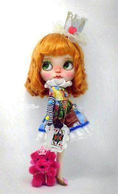 Ooak Custom Blythe Doll/Art doll Poker Queen by por rabbitbearhouse