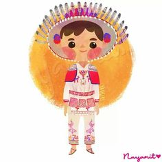 Trajes típicos de México by Yasmin Islas - Nayarit