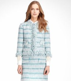 Marion Ribbon Tweed Jacket | Womens Sale | ToryBurch.com
