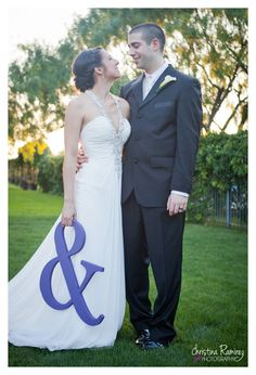 """Purple Ampersand Photo Prop - DIY '&' Sign for Engagement Photos - 18"""" tall and 3/4"""" Thick"""