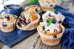 blåbärsmuffins Grandma Cookies, Cookie Box, Fika, Healthy Baking, Muffins, Cheesecake, Gluten, Sweets, Vegan