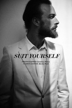 See more photos from SUIT YOURSELF at www.cityist.com Cityist City Magazine New York fashion mens wear clothes style proper chic model beard suits collar photography shadow