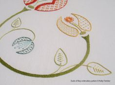 Buds of May hand embroidery pattern by KFNeedleworkDesign on Etsy, $14.25