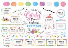 ガーリーフレーム Layout Design, Web Design, Speech Balloon, Girly, Pastel Colors, Creative Design, Decoration, No Response, Vector Free