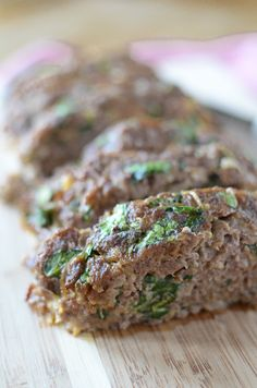 Spinach & Caramelized Onion Meatloaf