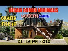 Small Modern House Plans, Modern Small House Design, Modern Minimalist House, A Frame House, Tiny House, Facade, Villa, Deco, Dream Homes