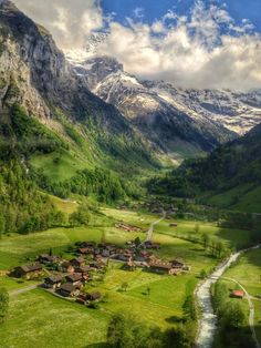 Stechelberg (Schilthornbahn), Lauterbrunnen, Switzerland — by Brian Beard. On the last cable car down from Schilthorn, in Lauterbrunnen, Switzerland. Such a magical place! Places Around The World, Travel Around The World, Around The Worlds, Beautiful Places To Visit, Wonderful Places, Places To Travel, Places To See, Amazing Nature, Dream Vacations