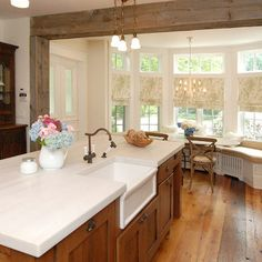 Rustic Modern Kitchen. I.LOVE.THIS. It's my favorite I've seen so far
