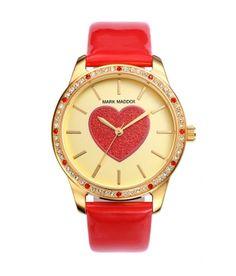 fd7144104f0c Reloj Mark Maddox para Mujer Corazón Rojo y Esfera Dorada.  sanvalentin   rojo  reloj  relojes  mark  maddox  markmaddox  mujer  dorado  corazon