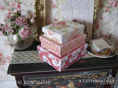 PDF Country Roses Box Set for Dollhouse by ALavenderDilly on Etsy