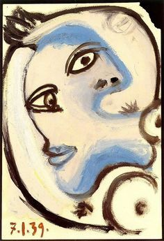 Oil Paintings of 1 Tete de femme 5 1939 Pablo Picasso Art for sale by Artists Pablo Picasso Drawings, Kunst Picasso, Picasso Art, Picasso Paintings For Sale, Oil Paintings, Malaga, Pablo Picasso Zeichnungen, Picasso Images, Auguste Herbin