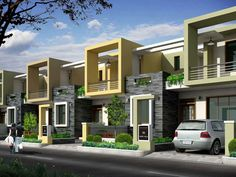 You Need Gardening Insurance For Anyone Who Is A Managing A Gardening Organization Rsultat De Recherche D'images Pour Siddha Aangan Villas In Ajmer Road, Jaipur Row House Design, Home Building Design, Modern House Design, Facade Architecture, Residential Architecture, La Croix Valmer, Townhouse Exterior, House Elevation, Facade House