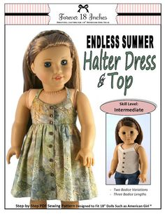 "Endless Summer Halter Dress and Top 18"" Doll Clothes"
