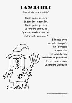 Nombreuses comptines et chansons pour les maternelles                                                                                                                                                                                 Plus Bricolage Halloween, Halloween 2018, Fall Halloween, Halloween Crafts, Happy Halloween, Songs For Teachers, Kids Songs, French Teaching Resources, Teaching French