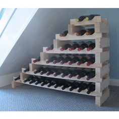 This gives me ideas for constructing storage to fit under the stairs.