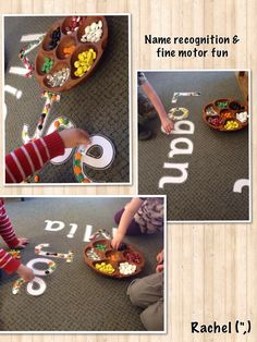 """Name recognition & fine motor fun from Stimulating Learning with Rachel ("""",)"""