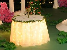 Pretty table treatment! Prom and Homecoming Table Decorating