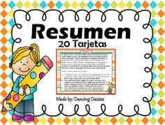 This Resumen SPANISH Task Cards include 24 Task Cards with multiple choice answers for students to practice this difficult skill.  This set is perfect for your learning center, small group, or as a game of SCOOT.