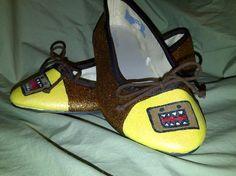 Domo-kun Glitter Shoes. $50.00, via Etsy.