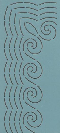 "Waves Border 7"" - The Stencil Company"