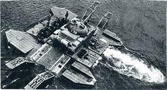 Т-62 форсирует реку на самоходном пароме 1978 г