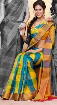 Silk sari. South Indian bride