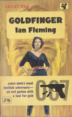 Ian Fleming - 'Goldfinger' (1959)...Great Pan paperback (pulp fiction cover art)