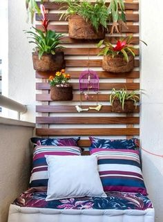 Apartment Patio Decor Tiny Balcony Home 42 Ideas Small Balcony Design, Tiny Balcony, Small Patio, Balcony Ideas, Balcony Garden, Small Balconies, Narrow Balcony, Patio Gardens, Mini Gardens