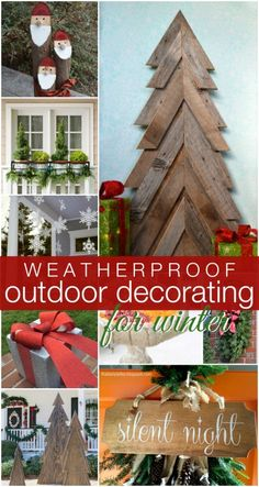 Outdoor Decorating for Winter @Remodelaholic #12days72ideas