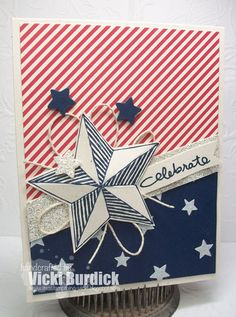 Stamp Set: Be A Star, Endless Birthday Wishes. Cardstock: Naturals, Night of Navy, Silver Glimmer Paper. Other: Twine, Dimensionals, Itty Bitty Punch Pack,
