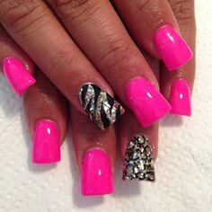 Don't like the nail shape but I like the colors and designs