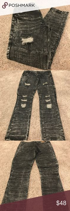 Black and gray DNM Collection Jean pants Black and gray DNM Collection Jean pants; new without tags; size 38; 80% cotton, 20% polyester Jeans Slim Straight