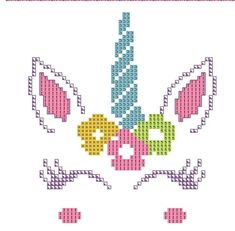Heart Cross Stitch Pattern Over Afghan (Tunisian) - Craft & Patterns Unicorn Cross Stitch Pattern, Baby Cross Stitch Patterns, Unicorn Pattern, Cute Cross Stitch, Modern Cross Stitch, Cross Stitch Designs, Cross Stitching, Cross Stitch Embroidery, Embroidery Patterns