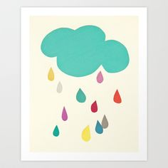 Buy Sunshine and Showers by Cassia Beck as a high quality Art Print. Worldwide shipping available at Society6.com. Just one of millions of products…