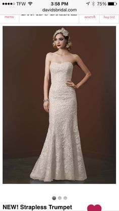 Mermaid, lace, and beaded wedding dress with a sweetheart neckline.