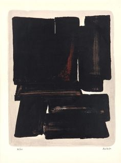 Pierre Soulages - Lithographie N°7a