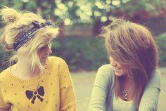 best friendzz, crazy hair, moments.