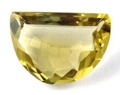 1 Pcs Natural Lemon Green Gold Quartz D Shape 16X25mm 20Cts Normal Cut Gemstone