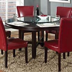 Steve Silver Company Hartford Burnished Dark Oak Round Dining Table Hf