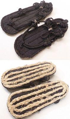 Japanese Edo period waraji (samdles),