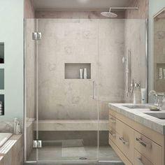 """DreamLine Unidoor-X 50"""" x 72"""" Hinged Shower Door Trim Finish: Chrome"""