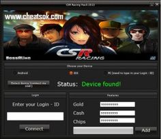 Today i'm going to show you the ultimate CSR Racing cheats for 2014 which gonna help you and others to get unlimited gold, money and chips without to spend any money from your pocket! All you have to do is to download the CSR Racing hack tool directly from our website and to follow our tutorial.