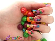 Neon abstract nails Neon, Abstract, Nails, Beauty, Summary, Finger Nails, Ongles, Neon Colors, Beauty Illustration