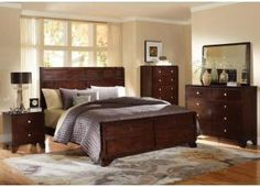 warm cherry bedroom set at home gallery furniture