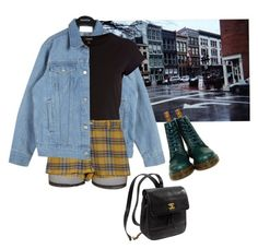 """w"" by junk-food ❤ liked on Polyvore featuring Bitching & Junkfood, River Island, Dr. Martens and Kate Spade"