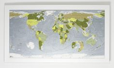 Colour Maps // modern world reference maps // buy online