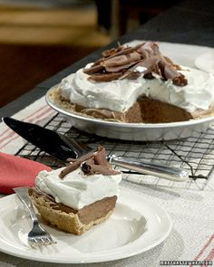 Jean Webster's French Silk Pie  I make this for Christmas. My father-in-law is a chocolate pie fan and this is just the best chocolate pie!
