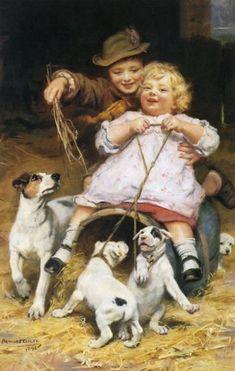 Braking Them / Arthur John Elsley (1860 – 1952, English)